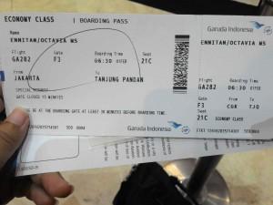 Tiket CGK ke Tanjung Pandan