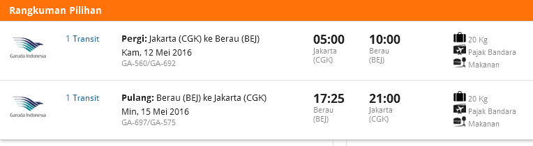 Tiket Pesawat ke Berau
