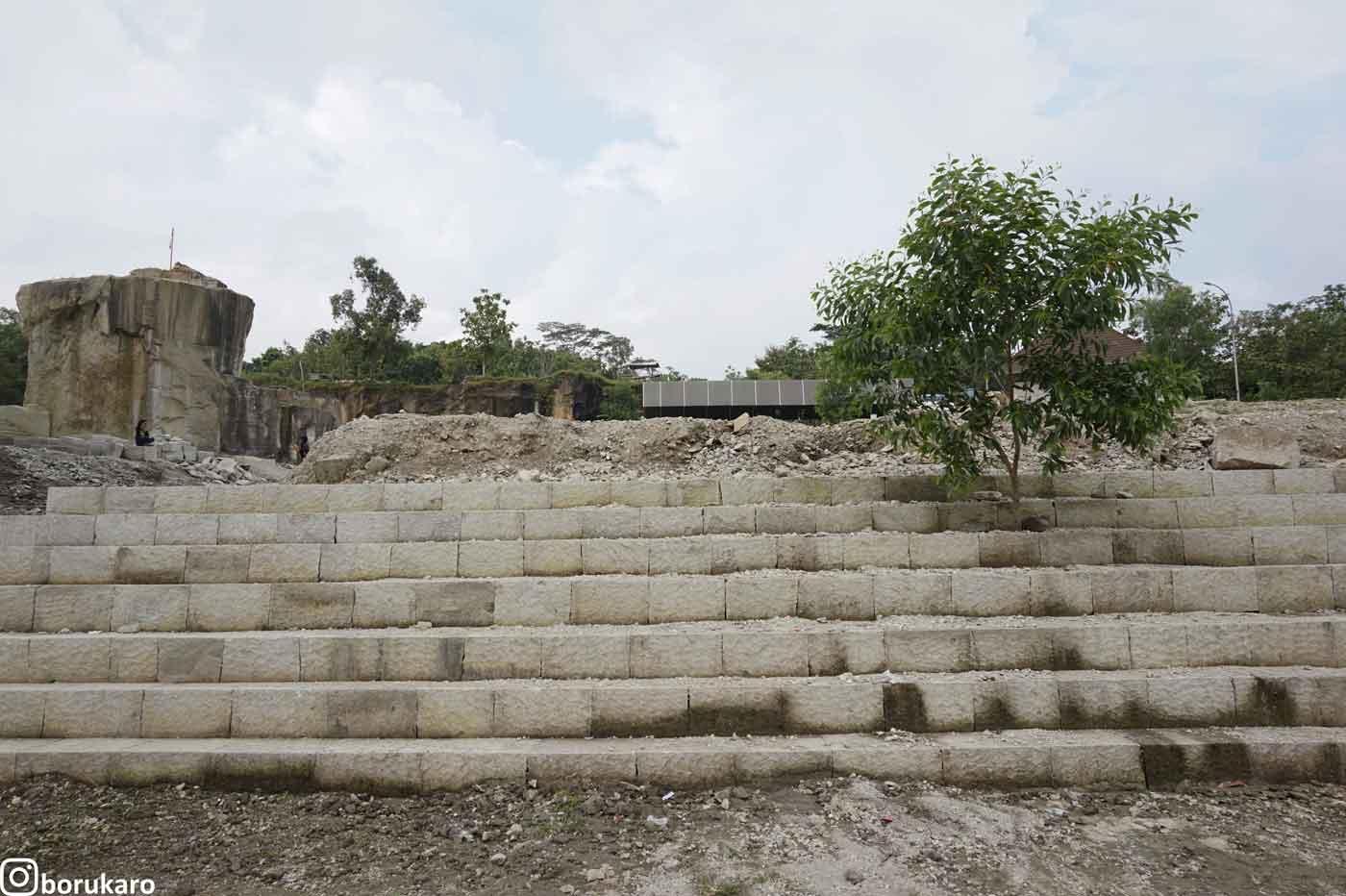 Tangga-tangga area Tebing Breksi