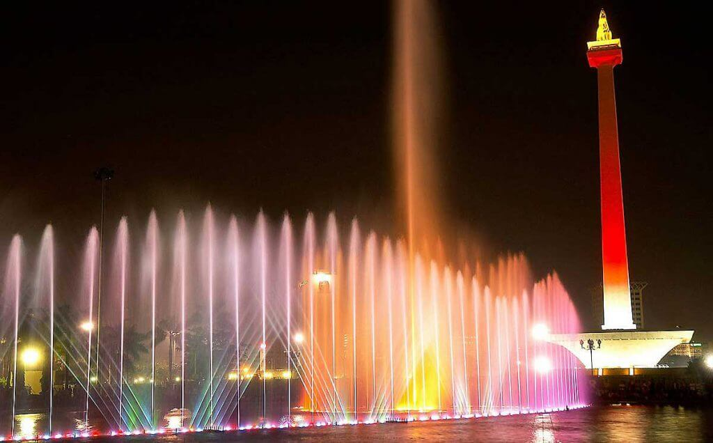 Fountain in Front of Monas Jakarta