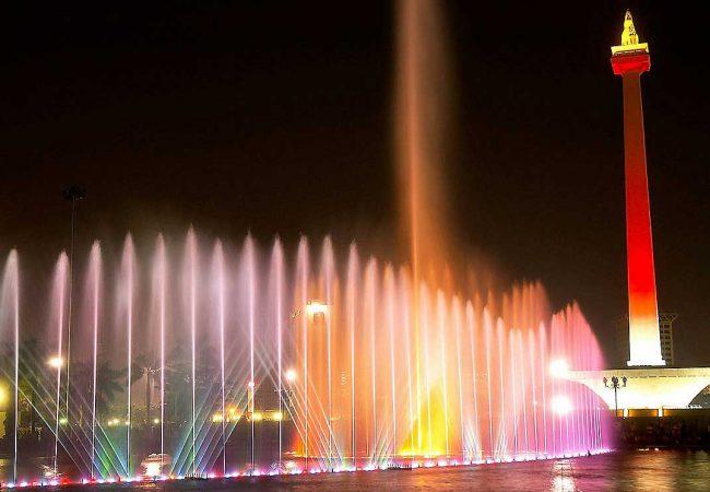 Fountain in Front of Monas Jakarta