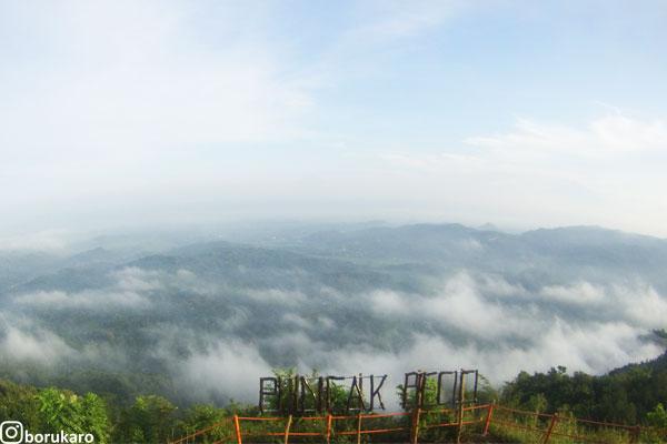 Awan puncak becici pagi hari