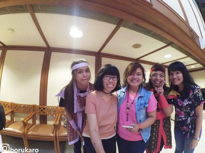 Foto bareng dengan tim tari Perkusi Jepang