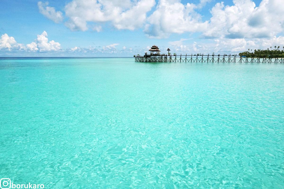 Pesona Watervilla ala Maldives Indonesia di Maratua Island