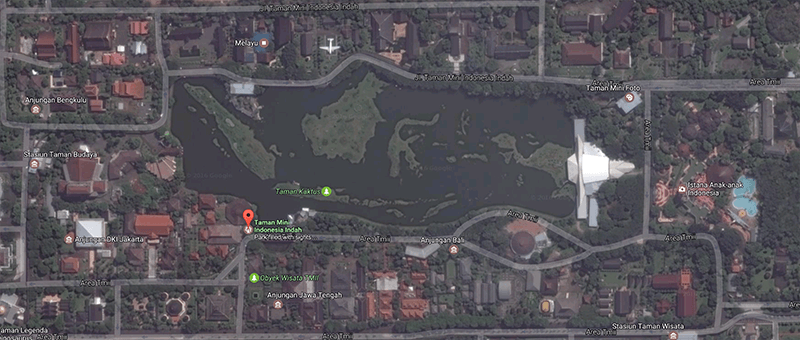TMII on Google Maps