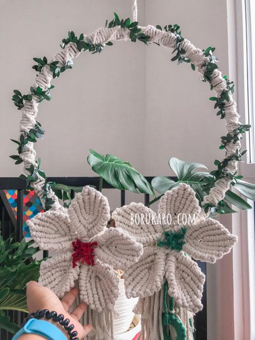 DIY Hiasan Natal Handmade dengan Macrame